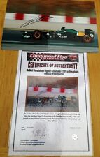 CHEQUERED FLAG COLLECTABLES H KOVALAINEN signed Caterham CT01 action photo 2012