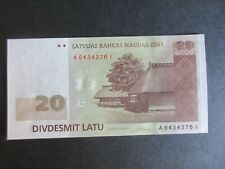 More details for latvia, 2006-2009 issue, 20 lati - dated 2009 - p55b - uncirculated