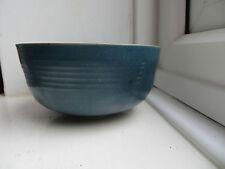 Signed Studio Art Pottery Blue Bowl 'VT' 'Japan Chawan Style'? Ceremonial Dish?