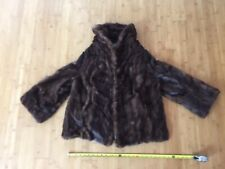 Soft Lush Gorgeous Vintage Brown Small Women's Fur Coat 1960's