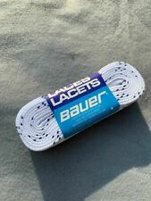 Bauer Waxed Ice Hockey Skate Laces Box(36 Pairs)- White / Blue