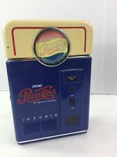 "Pepsi Cola Vending Machine Novelty AM FM Transistor Radio VINTAGE Works 7""x5""x2"""