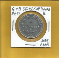 G &  B Stores Metamora IL  Token G/F $1.00 30 MM Alum