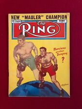 "1952, Rocky Marciano, ""The Ring"" Magazine (No Label) Scarce (Dempsey)"