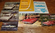 1962 Ford Galaxie Car Shop Service Manual Owners Sales Brochure 7 Piece Lot 62