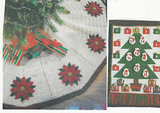 #162 Vintage Keepsake Advent Calendar & ChristmasTree Skirt CROCHET PATTERN