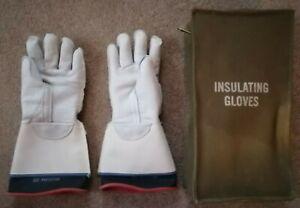Vintage Bell System Lineman's Insulating Gloves with Bag
