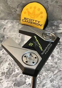 "Scotty Cameron Phantom X 5 Putter 34"" Original Headcover Pistol Grip EXCELLENT"