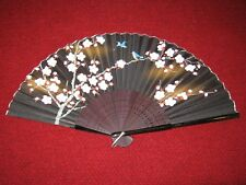 """Vintage Hand Fan Blue Birds and Cherry Blossoms 8"""""""