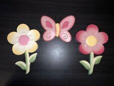 Wall Art For Kids Room Butterfly And Flowers