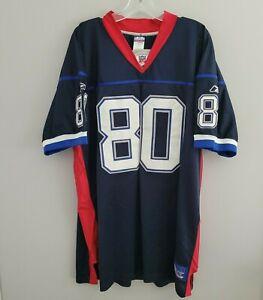 VTG Reebok Authentic NFL  Buffalo Bills Eric Moulds 80 Jersey Mens 54 2XL Sewn