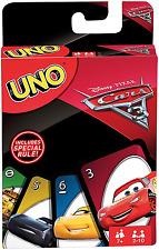Mattel Spiele FDJ15 - UNO Disney Pixar Cars 3 Edition Kartenspiel
