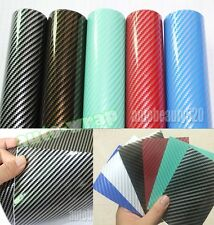 1 Set Samples - New Glossy Car 2D Carbon Fiber Vinyl Wrap Sticker Film Sheet