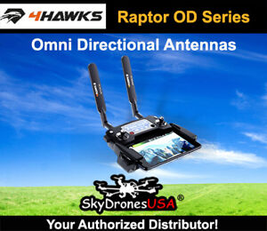 4Hawks Raptor OD   Omni Directional antenna   VLOS - Black