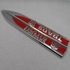 Car Metal Transformers Autobot Red Badge Emblem Sticker Side Emblem 2 pcs set
