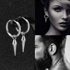 Huggie Hinged Hoop Earrings Gift Us Men's Women's Stainless Steel Drop Dangle