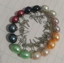 8Set 8Color Akoya Cultured Pearl Earring AAA Grade