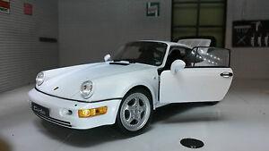 1:24 Porsche 911 Turbo 964 Détaillé Welly G Echelle Voiture Miniature 24023