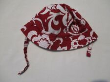 The Children's Place Baby Girl's Size 0-6 Months Red & White Floral Bucket Hat