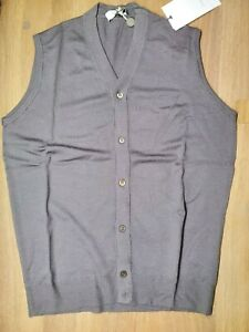 NWT CRUCIANI WOOL VEST RETRO M MADE IN ITALY , @S DRUMHOR GRAY