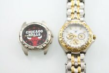 Fossil Men Watch Stainless Silver Gold Steel Battery Water Res Non-working Parts
