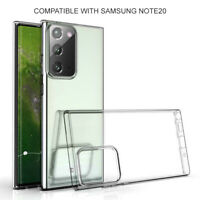 Clear Case For Samsung Galaxy Note 20 Silicone Phone Cover Protects Drop Scratch