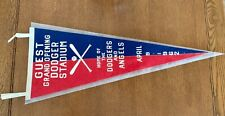 1962 LA Dodgers Opening Day Guest Pennant Dodger Stadium