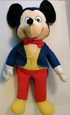 "Disney Rare Mickey Mouse Plush Blue Tuxedo Suit 25"" Doll Jumbo Huge VTG Applauce"