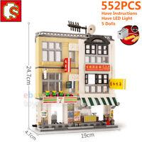 Sembo City Hongkong Street View Building Blocks Bricks Wall Lot MOC Fit Mega