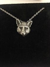"""Fox Head R160 English Pewter on a Silver Platinum Plated Necklace 18"""""""