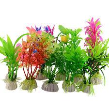 New listing 10 Pcs Plastic Artificial Grass Aquarium Simulation Plant Fish Tank Ornament Hea