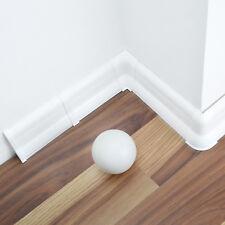 Sockelleisten ab 20m Weiß 62mm Bodenleisten Laminat PVC Kabelkanal Fussleisten