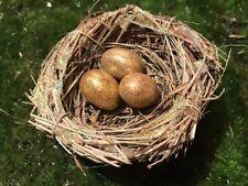 Icelandic Folklore birds nest ornament w/Gold eggs Christmas tree Ornament