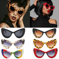 Femmes Cat Eye Lunettes de soleil Polaroid Lunettes Retro Butterfly Big Frame