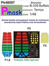 BREWSTER B-339 BUFFALO CANOPY PAINTING MASK FOR TAMIYA  #PK48097 1/48 PMASK