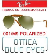 Occhiali sole RAYBAN RB3422Q 001/M9 OUTDOORSMAN CRAFT POLAR Sunglasses Ray Ban