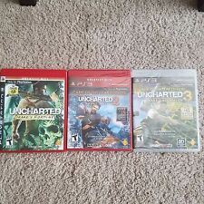 Uncharted 1 2 3 PLAYSTATION 3 PS3 LOT - BRAND NEW & FACTORY SEALED