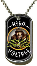 AC/DC ACDC High Voltage OFFICIAL DOG TAG PENDANT CHAIN HALSKETTE