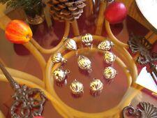 10 kleine Shabby Weihnachtskugeln Glas Bauernsilber Silber Christbaumkugeln