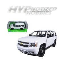 WELLY 1:24 CHEVROLET 2008 TAHOE POLICE VERSION SOLID DIE-CAST WHITE 22509WEP-W