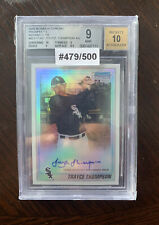 2010 Bowman Chrome Prospects Refractor Auto Trayce Thompson Rc  #479/500
