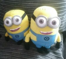 """2 x Large 10"""" & 9"""" Despicable Me 2 MINION Character Soft Toy"""