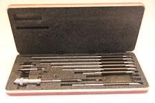 """Starrett No. 124 2-10"""" Solid Rod Inside Micrometer Set"""