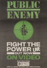 24/3/90Pgn10 Advert: Public Enemy fight The Power Live On Video Now 10x7