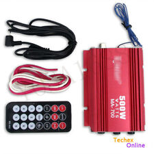 1x 500W Car Amplifier Audio Motorcycle Motorbike 2CH 2 Channel AMP USB MP3 FM