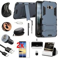 Shockproof Case Cover Headset Charger Accessory Bundle For Samsung Galaxy S8+