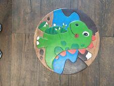 Wooden seat Kids dinosaur