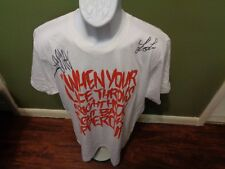 RARE ZEALE Signed RARE TOUR SHIRT INVISIBLE PRISONS SIZE ADULT LARGE