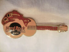 Hard Rock Cafe Vancouver Old Logo Red Salmon Guitar '96 Pin