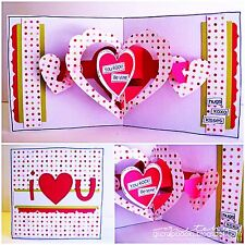Sizzix Bigz XL 3D Hearts-a-Plenty (pop-up) die #656773 MSRP $39.99 RARE Limited